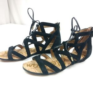Sam Edelman Katya Suede Sandals Black Like New